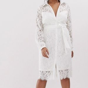 New PaperDoll White Lace Dress Size 8